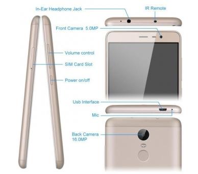 """Xiaomi Redmi Note 3 5.5"""" FHD 2GB 32GB Multilanguage Gold Oro Xiaomi - 4"""