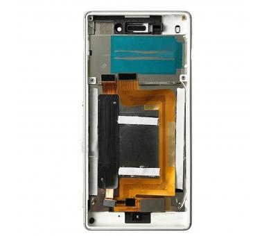 Pełny ekran z ramką dla Sony Xperia M4 Aqua E2306 E2353 Biały Biały ARREGLATELO - 1