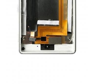 Pełny ekran z ramką dla Sony Xperia M4 Aqua E2306 E2353 Biały Biały ARREGLATELO - 2