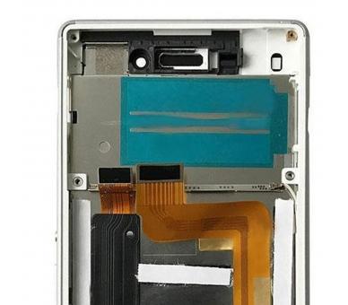 Pełny ekran z ramką dla Sony Xperia M4 Aqua E2306 E2353 Biały Biały ARREGLATELO - 3