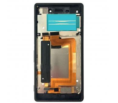 Volledig scherm met frame voor Sony Xperia M4 Aqua E2306 E2353 Zwart Zwart FIX IT - 1
