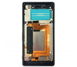 Pełny ekran z ramką dla Sony Xperia M4 Aqua E2306 E2353 Czarny Czarny