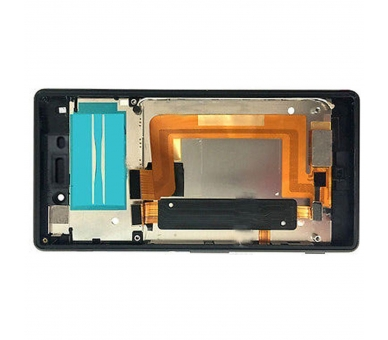 Volledig scherm met frame voor Sony Xperia M4 Aqua E2306 E2353 Zwart Zwart FIX IT - 2