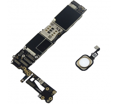 Motherboard for iPhone 6 A1586 16GB With Home Button   Color Gold Apple - 1