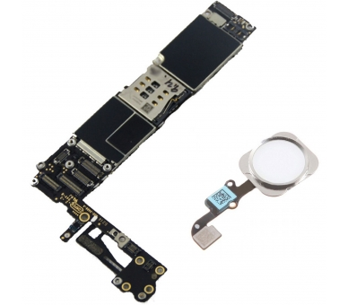 Motherboard for iPhone 6 A1586 16GB With Home Button | Color Silver Apple - 1