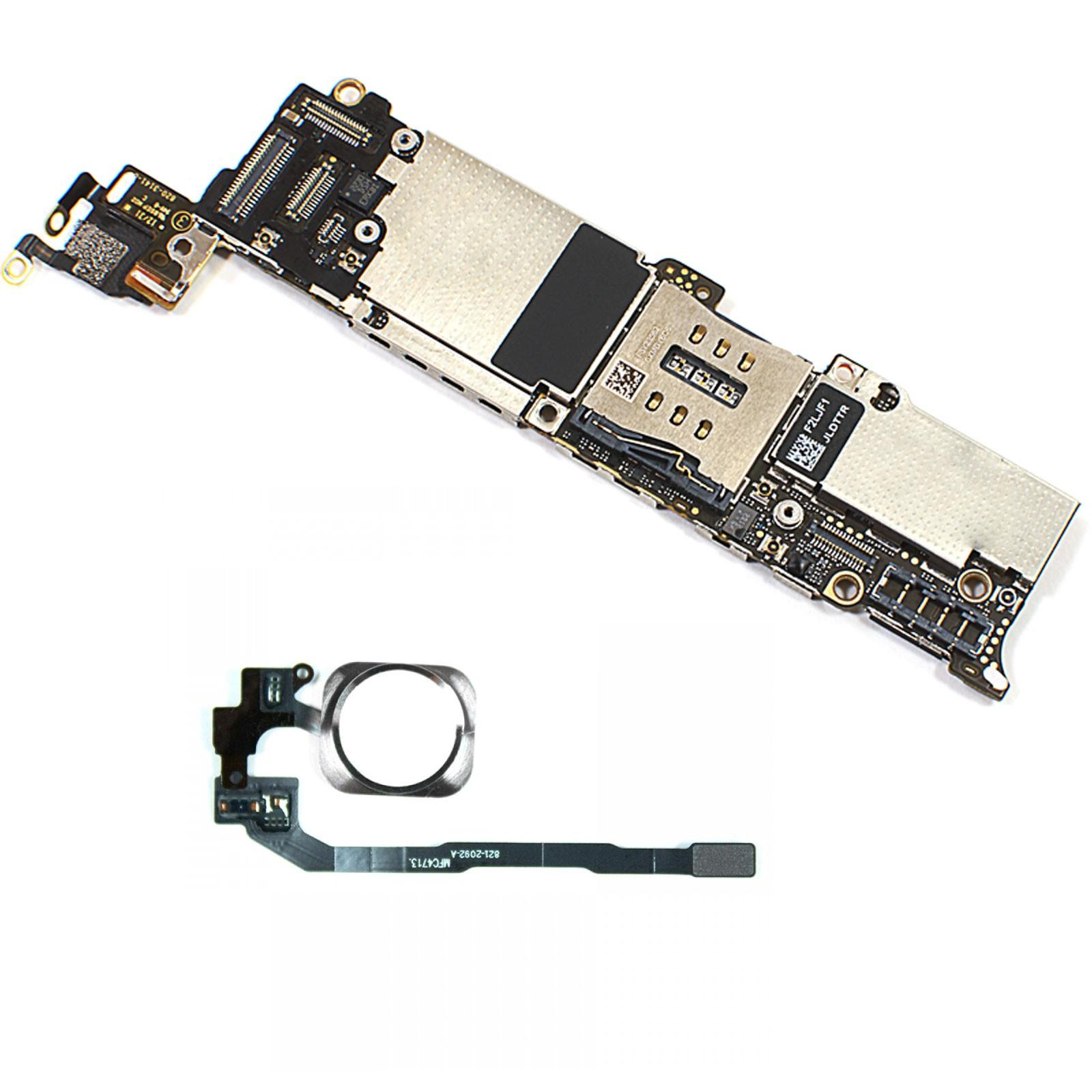 690212e6988 Placa Base para Apple iPhone 5S 32GB Con Touch iD / Boton Plata 100%  Original LIBRE - ARREGLATELO.ES