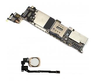 Moederbord voor iPhone 5S 32GB Met Touch iD Gouden Knop Origineel Gratis