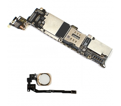 Motherboard for iPhone 5S 16GB With touch iD / Button Gold Unlocked Apple - 1