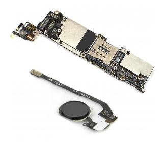 Moederbord voor iPhone 5S 16GB Met Touch iD Button Grijs Origineel GRATIS