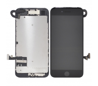 Display for iPhone 7, Color Black, With Components & Home Button ARREGLATELO - 2