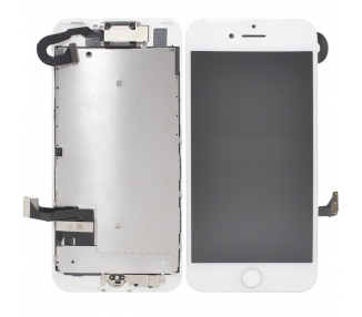 Display for iPhone 7, Color White, With Components & Home Button ARREGLATELO - 2