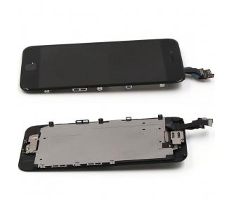 Pantalla Completa Con Componentes + Boton Home para iPhone 6 Negro Negra ARREGLATELO - 2