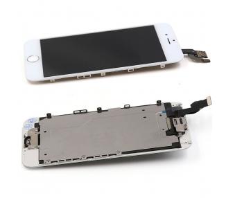 Pantalla Completa Con Componentes + Boton Home para iPhone 6 Blanco Blanca ARREGLATELO - 2