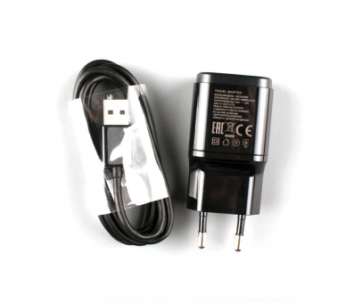 LG MCS-04ED Charger 1,8A + Micro USB Cable - Color Black LG - 9