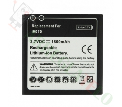 Bateria do SAMSUNG EB535151VU GALAXY S ADVANCE i9070 HIGH CAPACITY 1800 MAH  - 1