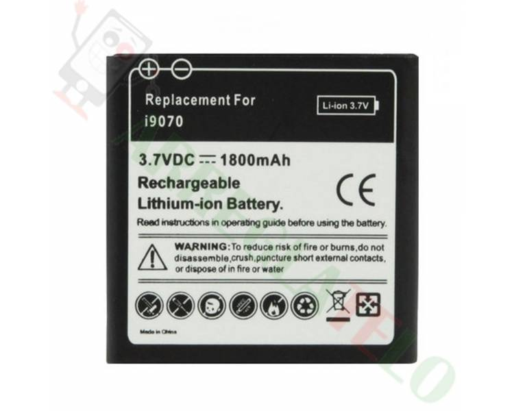 Bateria do SAMSUNG EB535151VU GALAXY S ADVANCE i9070 HIGH CAPACITY 1800 MAH