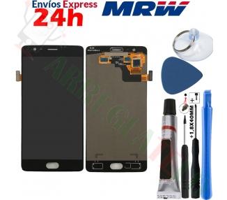 Pantalla Completa para OnePlus Three 3 Negro Negra ARREGLATELO - 1