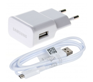 Cargador Micro USB Original Samsung Galaxy S2 S3 S4 S6 Mini Note 2 4 ACE Blanco