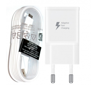 Samsung EP-TA20EWE Fast Charger + Micro USB Cable - Color White
