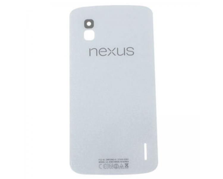 Achterste Batterij Behuizing Cover Originele Antenne voor LG Google NEXUS 4 E960 Wit LG - 1