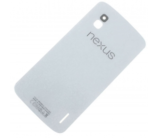 Tapa Carcasa Bateria Trasera Antena Original para LG Google NEXUS 4 E960 Blanco