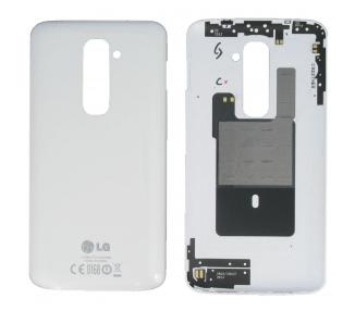 Tapa Trasera Carcasa Original para LG G2 D802 Blanco Blanca