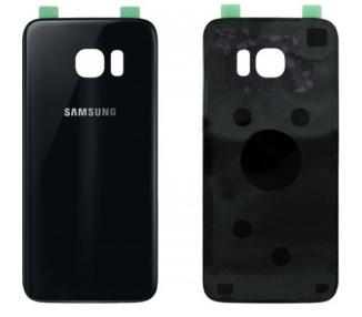 Back Cover voor Samsung Galaxy S7 Edge G935F Zwart - Vervangt het origineel