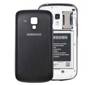 Tapa Trasera carcasa cubre Bateria para Samsung Galaxy Trend S7560 S7562 Negro