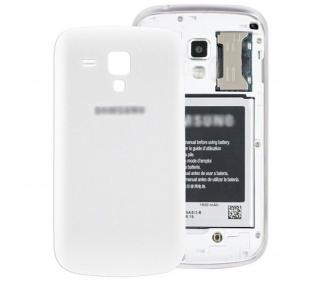 Tapa Trasera Carcasa Bateria para Samsung Galaxy Trend S7560 S7562 BLANCO Blanco