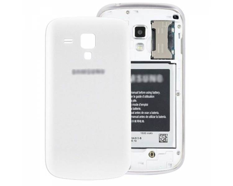 Tapa Trasera Carcasa Bateria para Samsung Galaxy Trend S7560 S7562 BLANCO Blanco ULTRA+ - 1