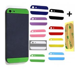 Tapa trasera Para iPhone 5 Camara Cubierta Funda Encima Cristal Carcasa colores