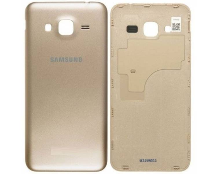 Tapa Trasera para Samsung Galaxy J3 2016 J320F J320FN J320 Dorado ULTRA+ - 1