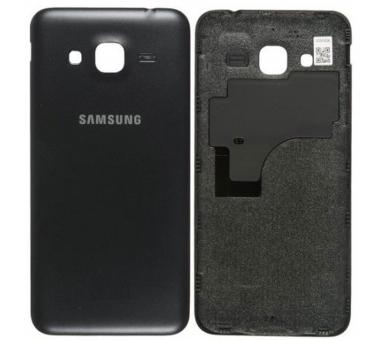 Back Cover voor Samsung Galaxy J3 2016 J320F Zwart Zwart ARREGLATELO - 1