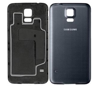 Tapa bateria carcasa trasera Samsung Galaxy S5 i9600 Negra Azul Oscuro