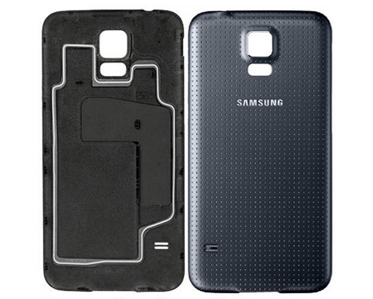 Backcover batterij cover voor Samsung Galaxy S5 G900F Zwart Donkerblauw ARREGLATELO - 1