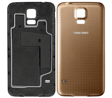 Tapa Trasera para Samsung Galaxy S5 Oro Dorado ULTRA+ - 1