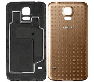 Tapa bateria carcasa trasera Samsung Galaxy S5 i9600 Oro Dorado