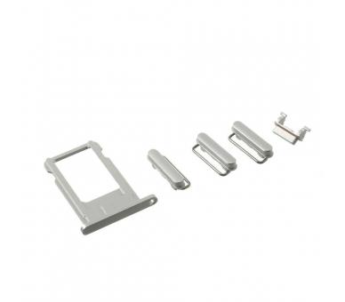 Volledige behuizing chassis, achterklep voor iPhone 6 Wit Zilver ARREGLATELO - 3