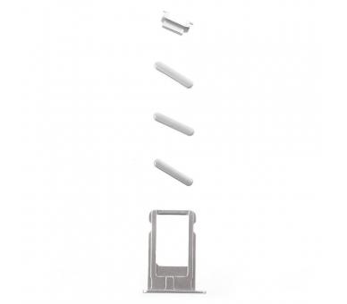 Chassis Behuizing voor iPhone 6 Plus Zilver ARREGLATELO - 4