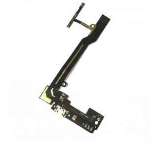 Flex-Anschluss Lademikrofon-Seitentasten für BQ Aquaris E5HD, E5S, E5