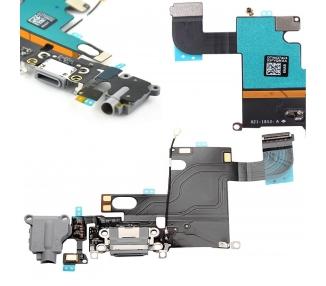 Flex Conector Carga & Microfono Con Antena para iPhone 6 Gris