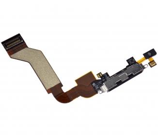 Flex Conector Carga & Microfono para iPhone 4S NEGRO