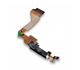 Lade- und Datenanschluss Flex mit Mikrofon für iPhone 4 4G Black