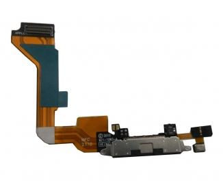 Flex Conector Carga y Datos con Microfono para iPhone 4 4G Negro ARREGLATELO - 2
