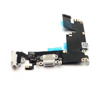 Flex Carga Conector Microfono Antena para iPhone 6 Plus 6+ 5,5 Blanco