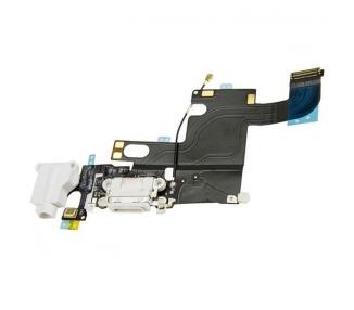 Flex Conector Carga & Microfono Con Antena para iPhone 6 Blanco