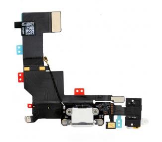 Conector Dock de carga de 3,5 mm puerto Flex Cable para iPhone 5s Blanco ARREGLATELO - 2