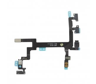 Flex Cable Mute Buttons Lautstärke Ein Aus für iPhone 5