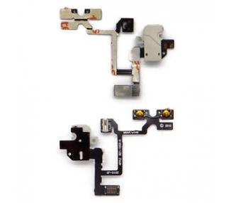 Flex Audio Jack + Botones Volumen para iPhone 4 Blanco