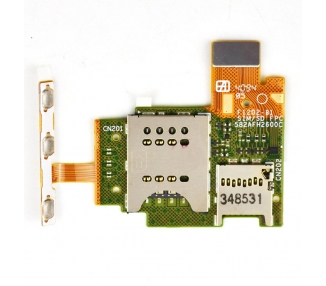 Flex Lector SIM Reader MicroSD Original Flex Sony Xperia J ST26i 1264-1977